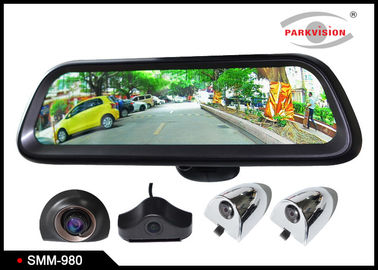 China Android GPS 9.8 Inch Full HD Car Rearview Mirror Monitor Rear View System 4 Camera DVR Recording supplier