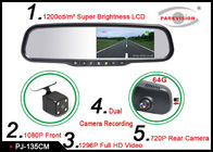 China High Resolution DVR Mirror Monitor Car Reversing Camera With LCD Mirror Monitor  company