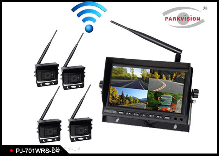 2.4G Wireless Transmitting Bus Rear View Camera , Wireless Remote Backup Camera
