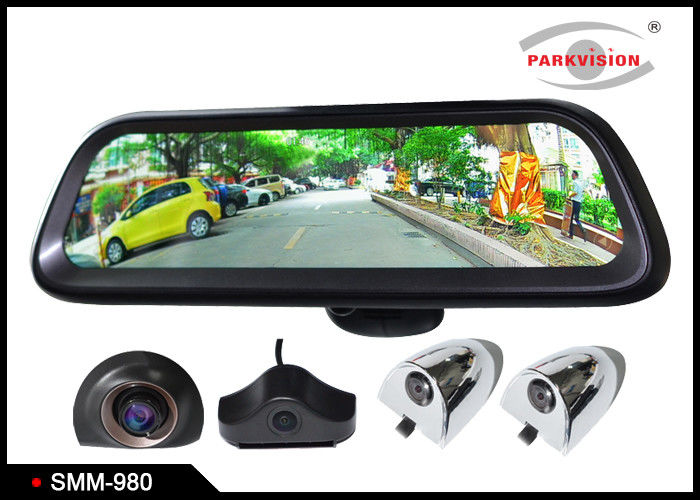 Android Gps 98 Inch Full Hd Car Rearview Mirror Monitor Rear View