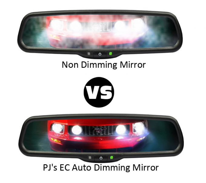 High Brightness Reversing Mirror Monitor With 180 -190 Degree Horizontal Rear