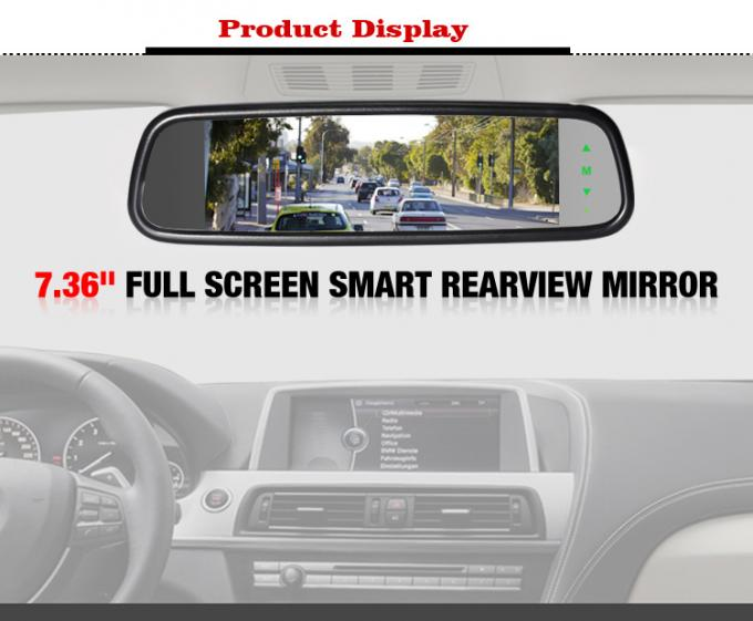 1280 * 400 Resolution Reversing Mirror Monitor , Rear View Mirror Video Monitor
