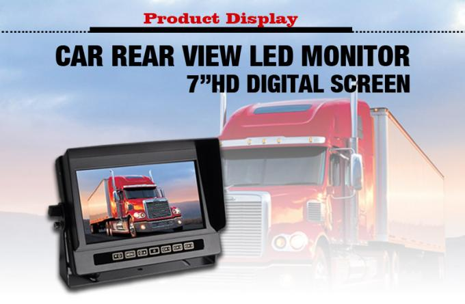 Waterproof Rear View Mirror Monitor With Backup Camera , Bus Surveillance Systems