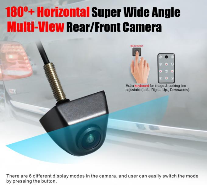 Multi View Horizontal 180 Degree Rear View Camera Bolt Mounting 1280 * 720 Pixels
