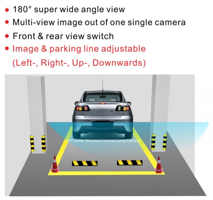 Horizontal Viewing Angle Reversing Car Rear View Camera For Car Parking Line